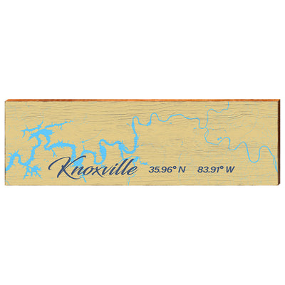 Knoxville and the Tennessee River Navigational Styled Map Wall Art Wall Art-Mill Wood Art