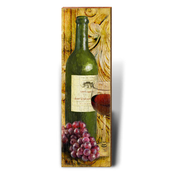 Red Wine Rustic Art Piece-Mill Wood Art