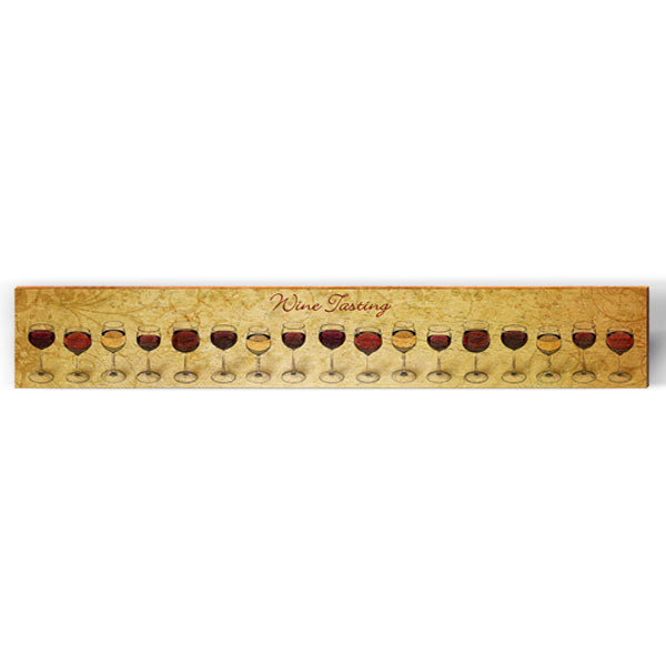 "Wine Tasting Large Art Piece | Size: 9.5"" x 60""-Mill Wood Art"