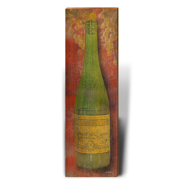 White Wine Rustic Art Piece-Mill Wood Art