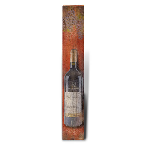 "Red Wine Large Portrait | Size: 9.5"" x 60""-Mill Wood Art"
