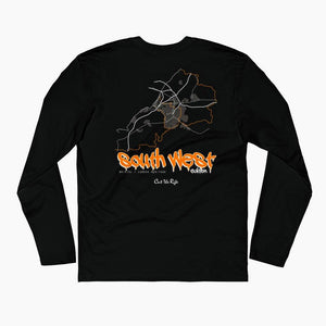 south west edition long sleeve t-shirt, black. streetwear