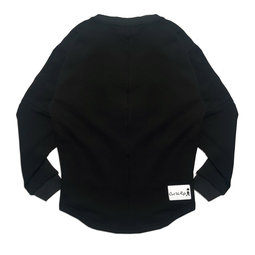 kids Oversized black Sweater by Cut the Rife