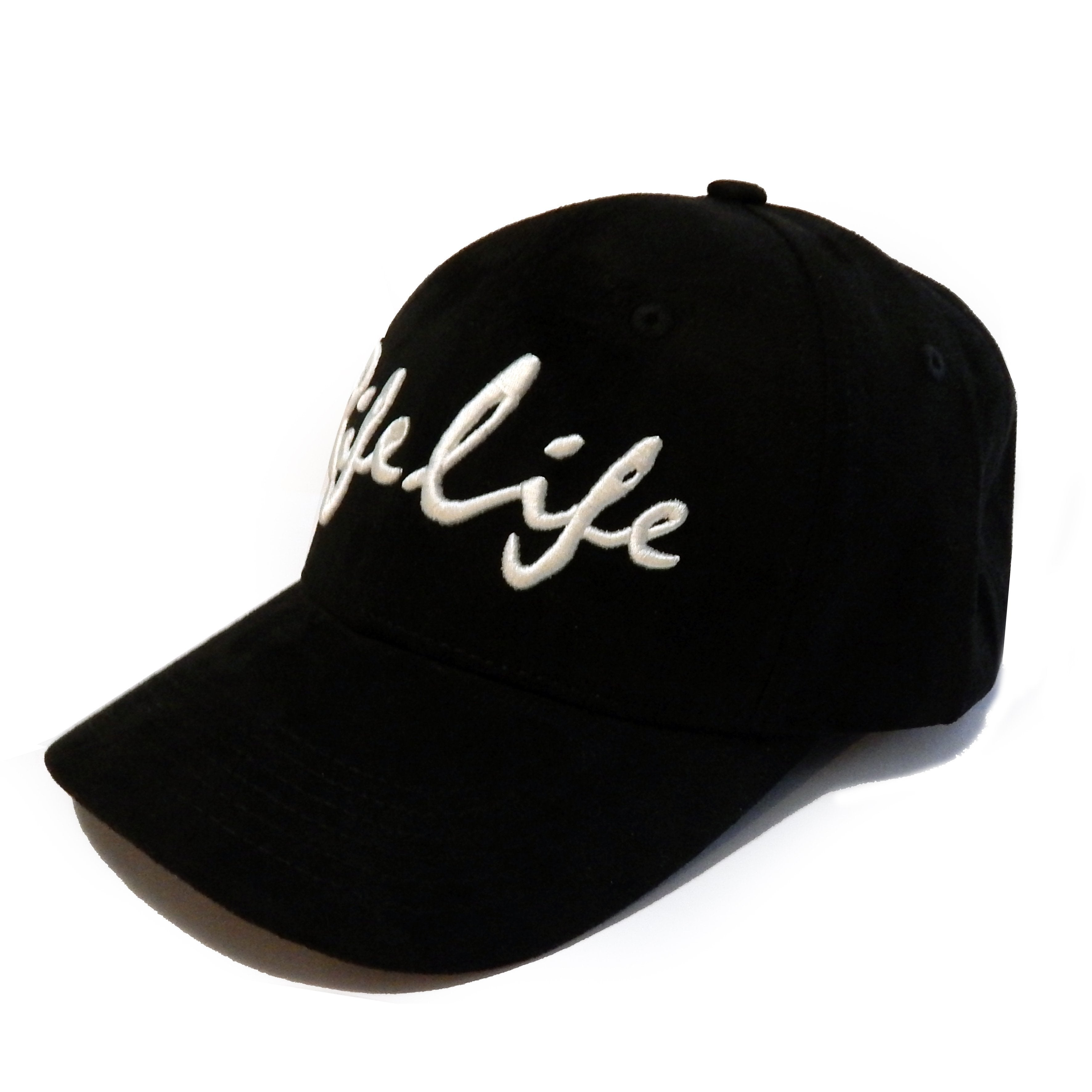 Rifelife black suede snap back cap with 3d embroidery  by Cut the Rife