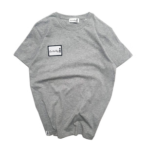 kids patchwork crew neck t-shirt, grey by Cut The Rife