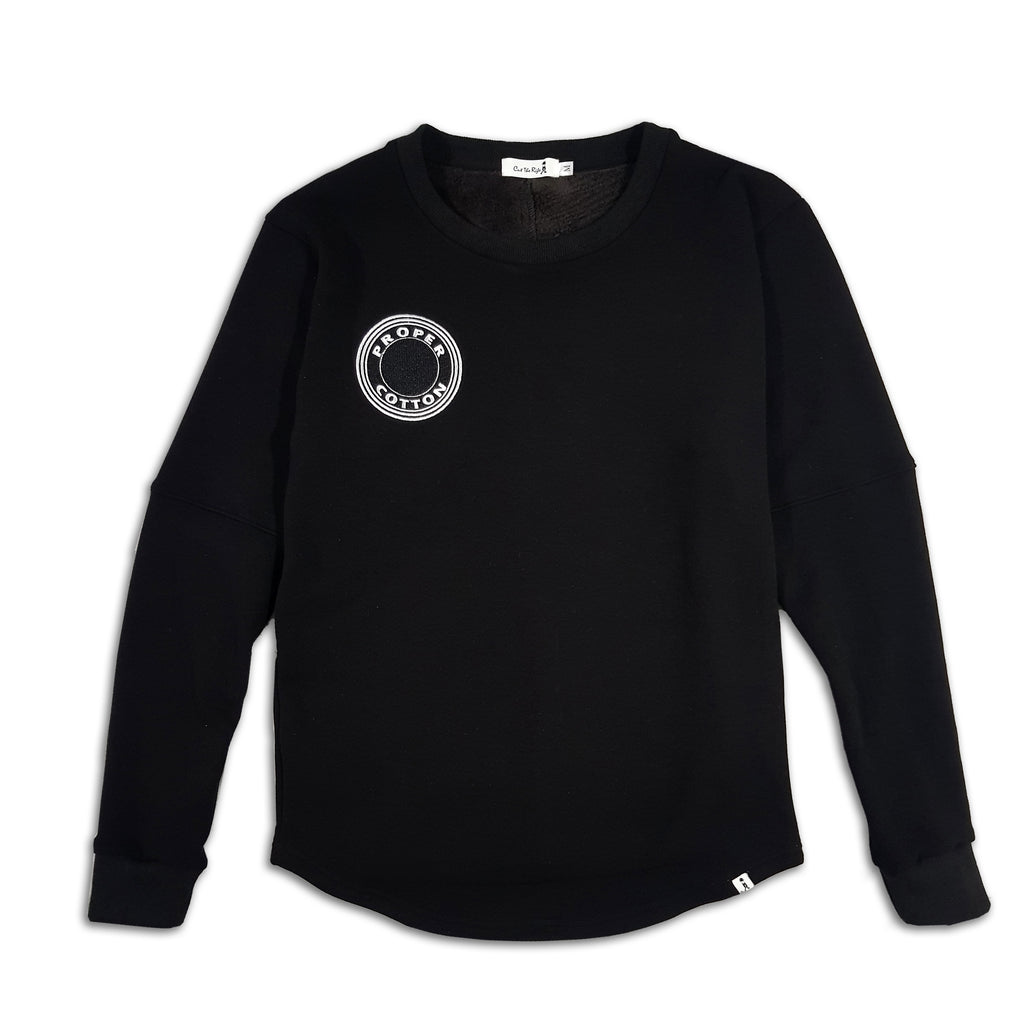 Kids Proper Cotton Longline Sweatshirt