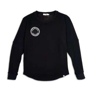 proper cotton black long sleeve sweater, adult by Cut the Rife