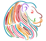 Men's Colorful Lion Animal Strength T-Shirt