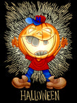 Kids Laughing Pumpkin Halloween T-Shirt