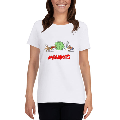 Women's Megadogs tree chainsaw T-shirt