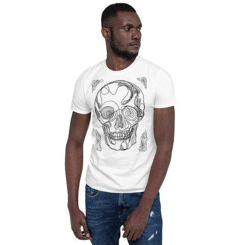 Men's Skull Lines Short-Sleeve T-Shirt