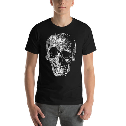 Men's Smiling Skull Short-Sleeve T-Shirt