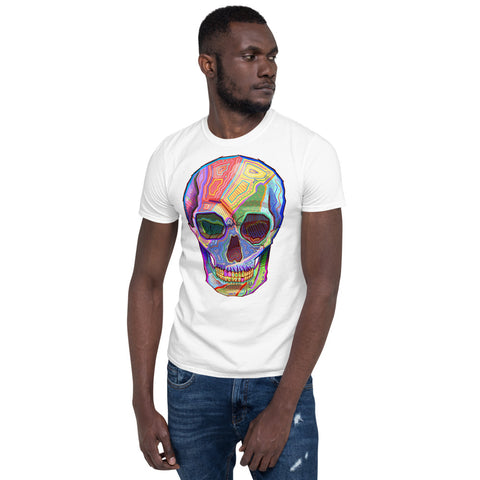 Men's Colorful Skull Short-Sleeve T-Shirt