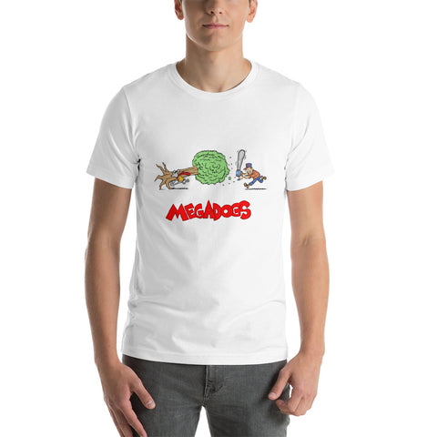 Men's Megadogs tree chainsaw T-Shirt