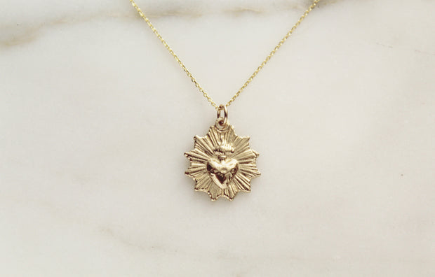 14k Gold Sacred Heart