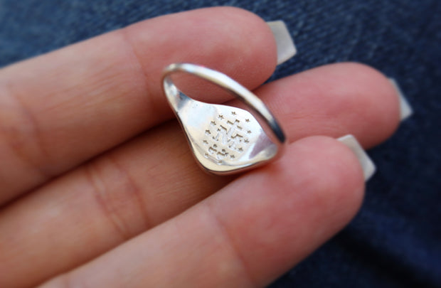 Miraculous Medal Signet Ring *925 Sterling Silver*