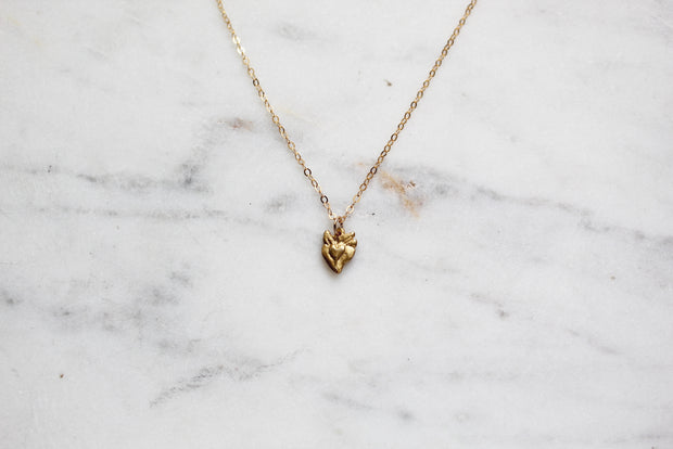 Tiny Sacred Heart Necklace