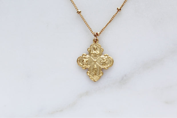 Four way Cross necklace