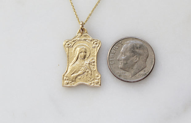 St. Therese of Lisieux 14K Gold