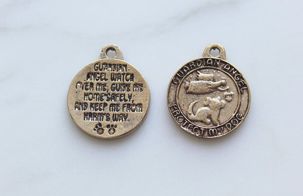 Dog Guardian Angel Collar Pendant