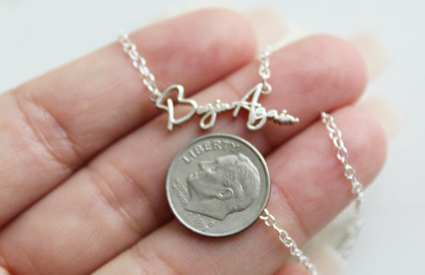 Begin Again necklace (Sterling Silver)