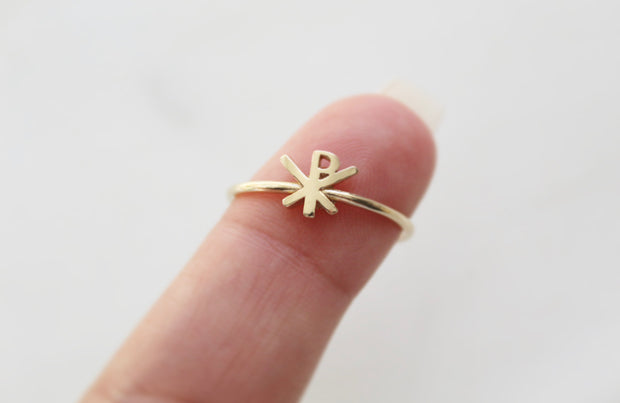 Chi Rho Ring 14k Gold