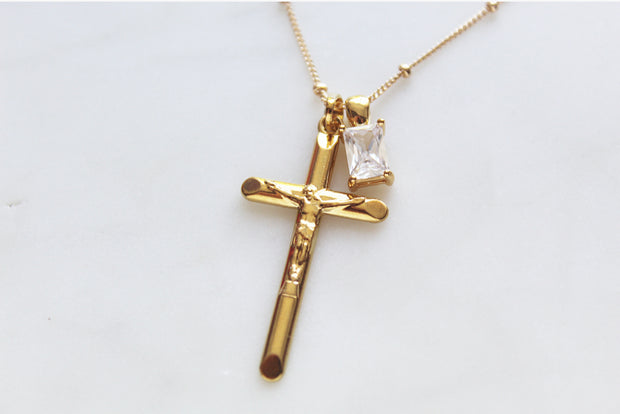 Crucifix Necklace (smaller)