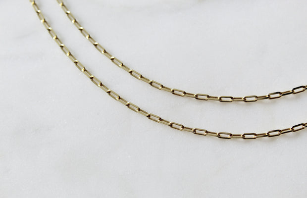14k Gold Clip Necklace