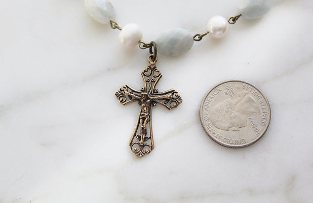 Divine Mercy Necklace *Ready to ship 2/25/21*