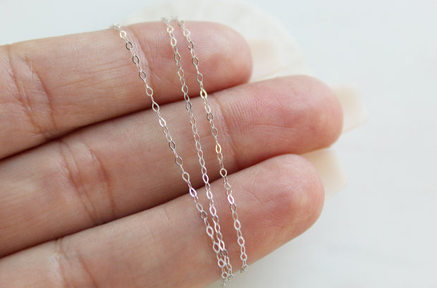 14k White Gold Chain Necklace *Seasonal Item*