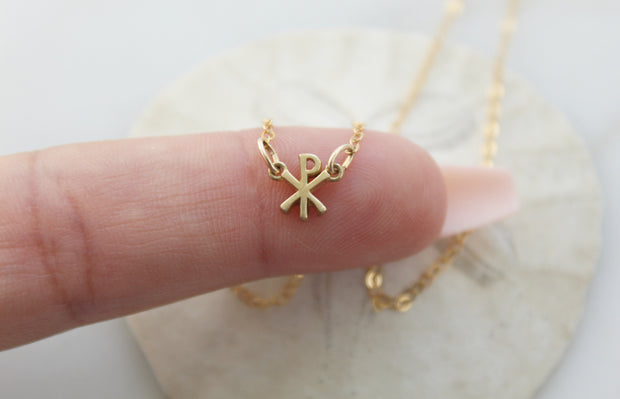 Chi Rho Necklace