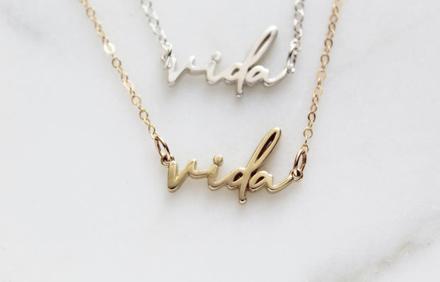 Vida Necklace (Sterling Silver)