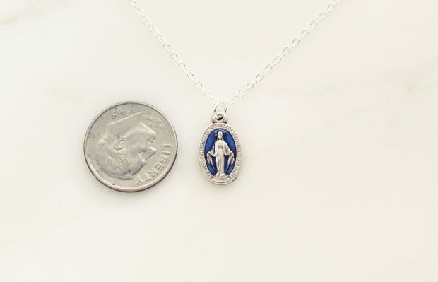 Dainty Miraculous Medal Necklace