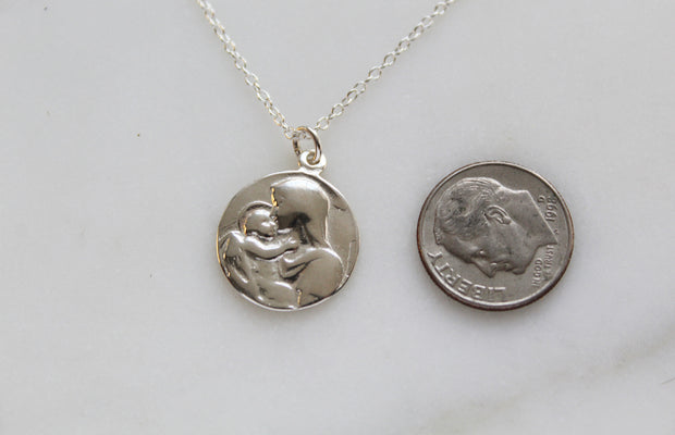 Jesus and Mary Necklace (Sterling Silver)
