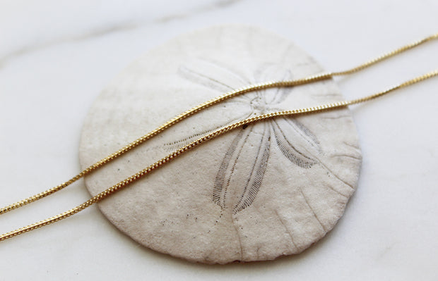 14k Gold Fox Tail Necklace