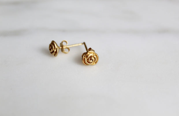 Rosebud Stud Earrings