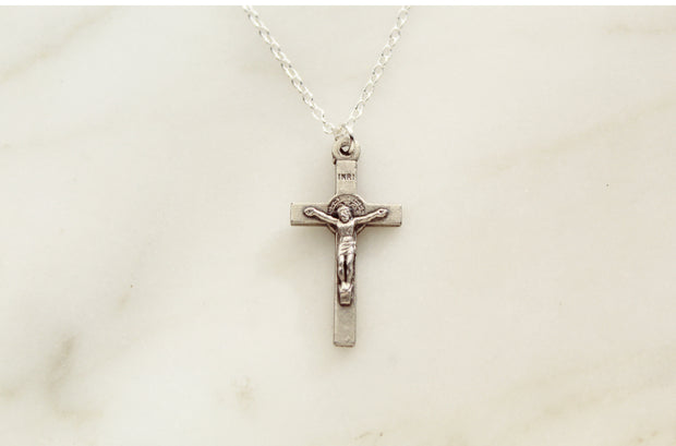 Tiny Crucifix Necklace