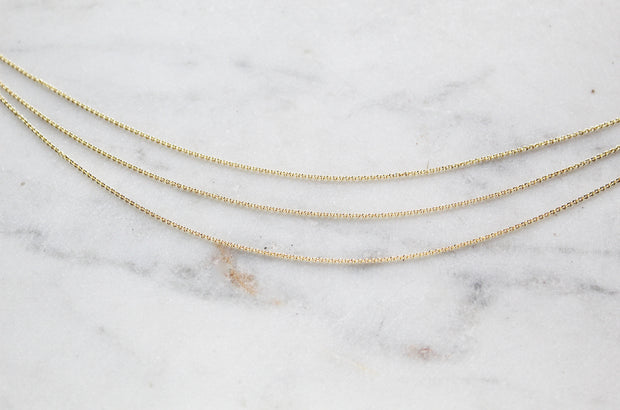 14K Gold dainty Necklace