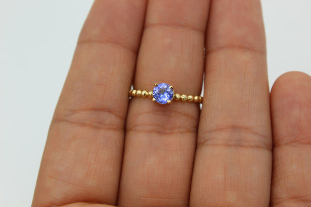 Tanzanite on 14k Gold ring