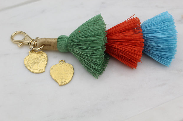 Two Hearts Purse Tassel