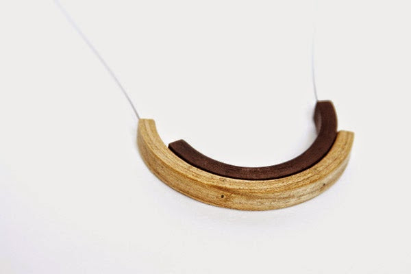 NEW WORK: ARC SERIES Hickory & Walnut Pendant
