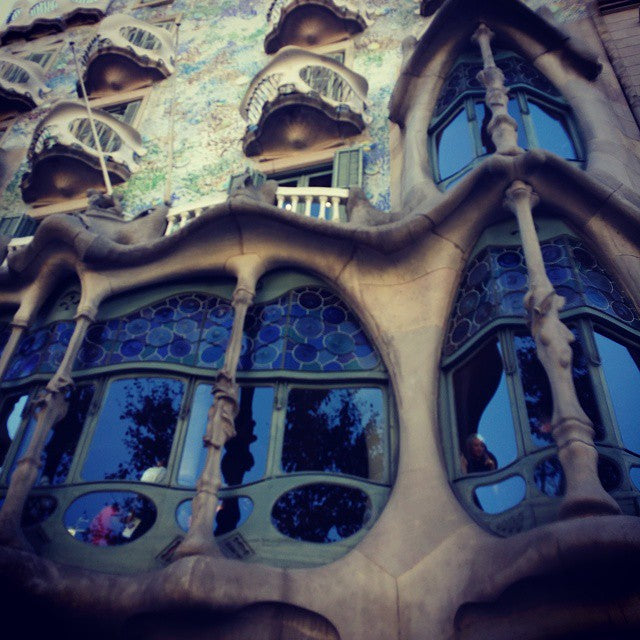 The straight line belongs to men, the curved one to God - Gaudi