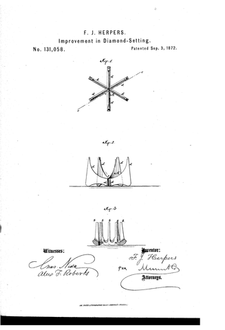 Tiffany and co 6 prong patent