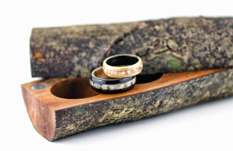 Ebony/Birdseye Maple Wedding Set