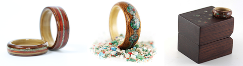 Custom Wood Rings by Gustav Reyers