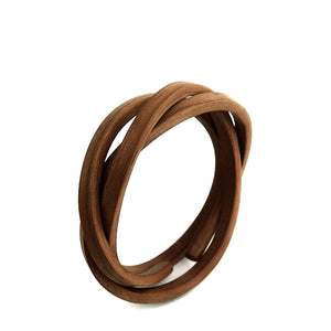 Trefoil Not Bracelet - Walnut