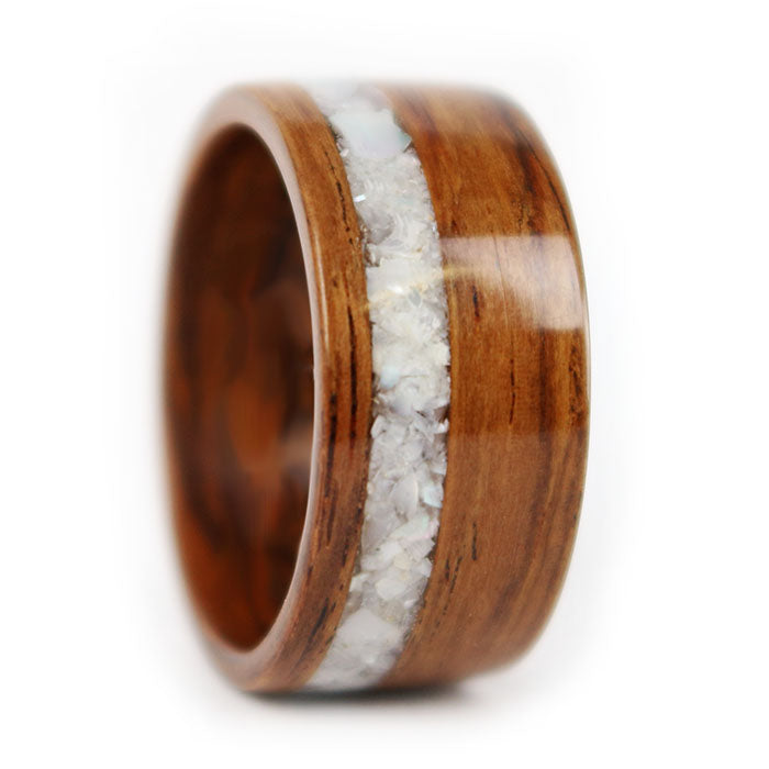 Seashores Muse Salvaged Rosewood Ring by Gustav Reyes
