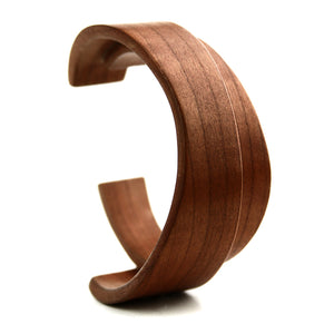 Bent Wood Cuff - Cherry