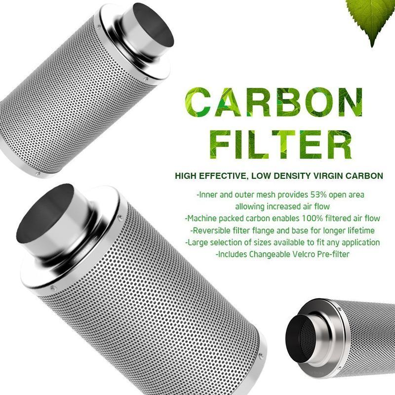 "6"" Carbon Air Filter - Piverto"