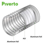 "6"" Flexible Duct With 2 clips 8ft - Piverto"